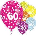 Ballonnen 60 jaar diverse kleuren (6st)
