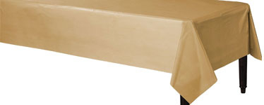 Table cover plastic gold