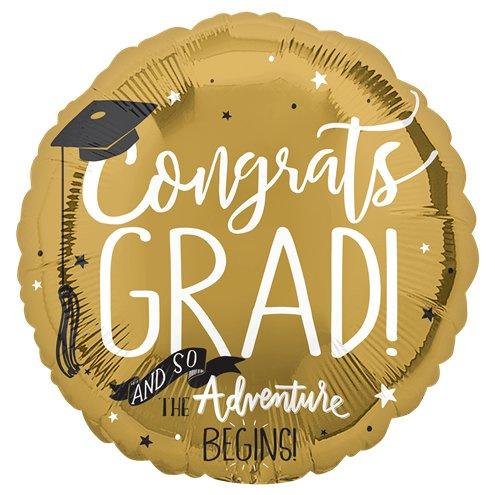Ballon graduation goud met helium