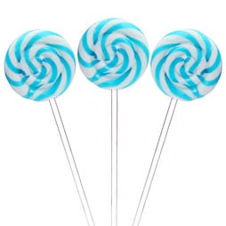 Swirl lollipop blue