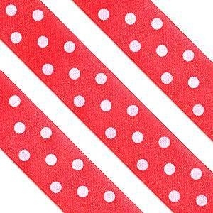 Polka dot ribbon red