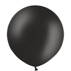 XL ballon metallic zwart