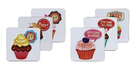 Cupcake onderzetter (set van 6)