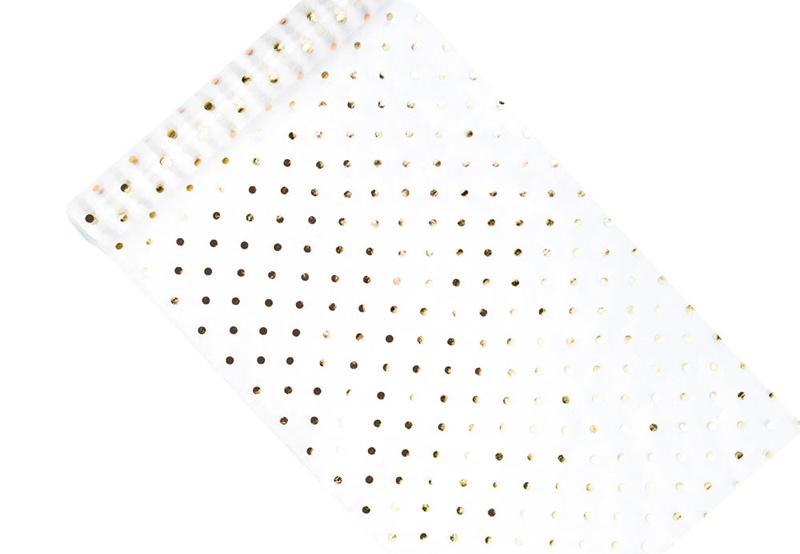 Organza golden dots