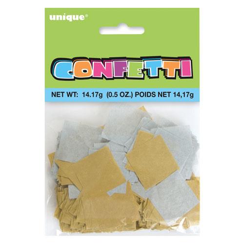 Paper confetti strips gold/silver