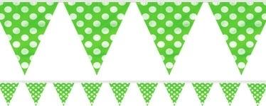 Vlaggetjes groene polkadots