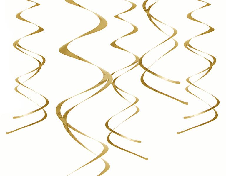 Plastic swirls gold (5pcs)