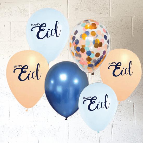 Eid balloons pastel confetti (8pcs)
