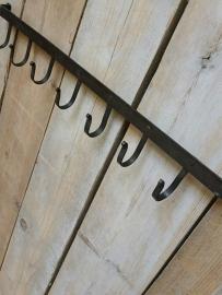 Kapstok met 7  vaste haken robuust groot