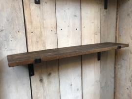 Wandplank Hout  incl beugels xl 120 x 18