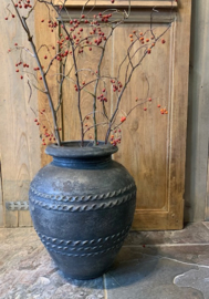 Stoere antique black  pot