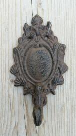wanddeco haak  barok roestbruin