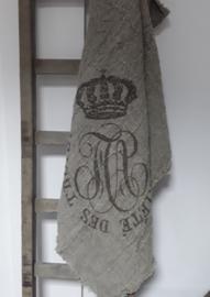 Shabby plaid kroon 100 x 100