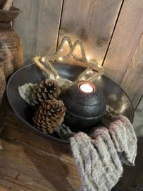 Iron cooking bowl schaal