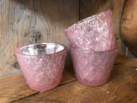 Waxine lichtje roze