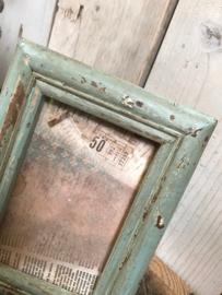 Vintage  houten fotolijstje olijf