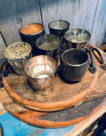 Oud Houten dienblad met handvaten industrieel landelijk