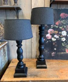 baluster tafel lamp zwart