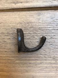 Rond haakje bruin 3 cm