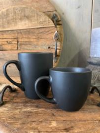Koffiemok mat zwart
