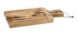 PTMD Snijplank Yala mangohout ribbel handvat