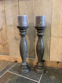 houten stompkaars kandelaar Cayo Coco