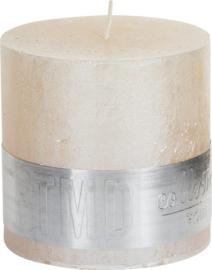 PTMD kaars Metallic creme 10x10