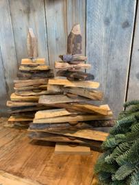 Kerstboom oud hout