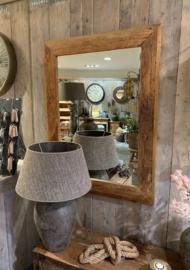 grof oud houten spiegel 121 x 91