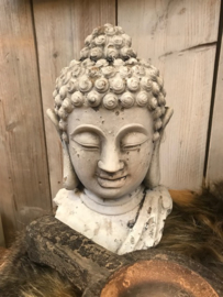Buddha hoofd beton