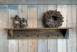 grote stoere kapstok van oud hout