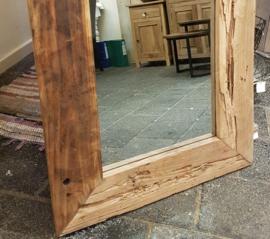 Grof oud teakhouten spiegel 80 x 60