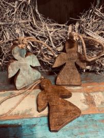 oud houten engel