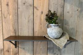 Wall shelf square pipe metal & wood