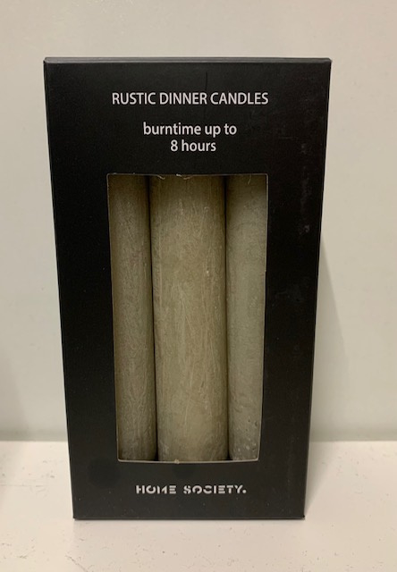 Dinner candle S Taupe