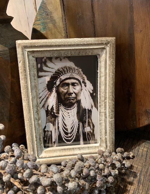 Fotolijstje met indiaan