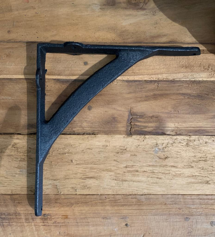 Plankdrager / steun zwart  groot
