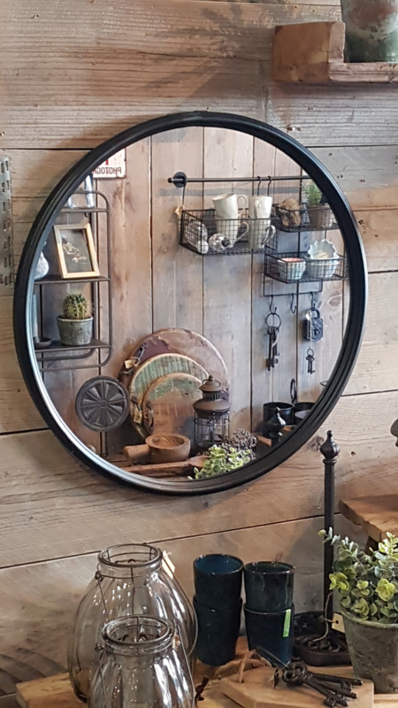 Grote ronde  industriële spiegel