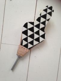 Blaasbalg klein zwart/wit driehoek