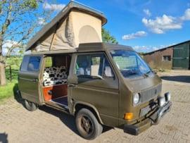 Volkswagen T3 Kampeerauto bj 1985 benzine  lpg 4 slaapplekken apk verkocht