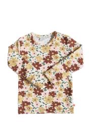 T-shirt flower bruin