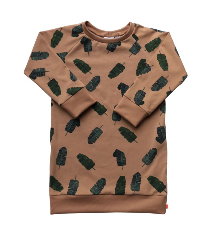 Sweaterdress Jasmijn bladeren