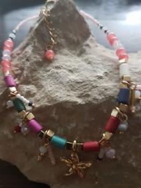 Verstelbare enkelbandje in vrolijke zomerse kleuren