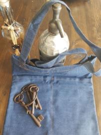 Denim vintage tas (Licht blauw)