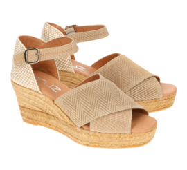 Cleo Twist platform espadrille in 'Almond'