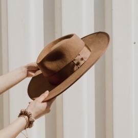 Rancher Fedora hoed  in 'New Beige'