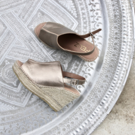 Lynn sleehak espadrille in metallic 'Bronzo'