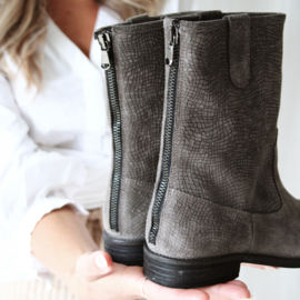 Zohra bohemian boot 'Carbon' omero suede | FELIZ laarzen