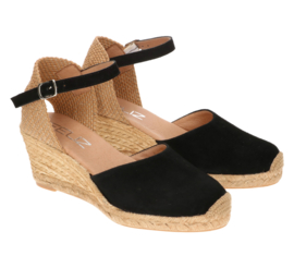 Lennie espadrille in 'Black' Suede