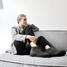Bo hi top sneaker in 'Catfish' suede